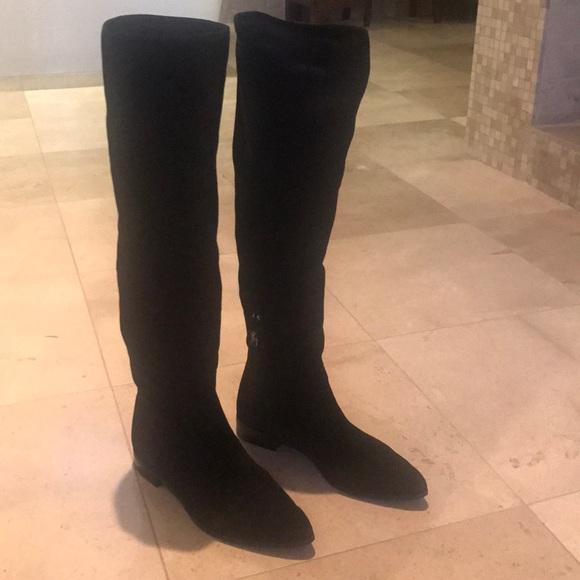c1c97dfc156 Prada black suede over the knee boots. M 5a54c5482c705d052404aec0